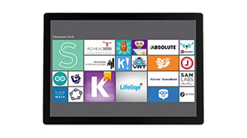 A tablet device showing Microsoft's app store.