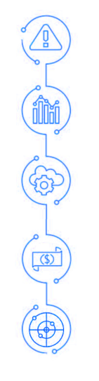 Image of circular icons showing some of the benifits of becoming a Microsoft partner