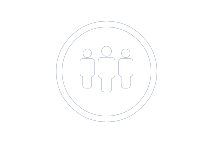 Illustration icon showing a group of people.