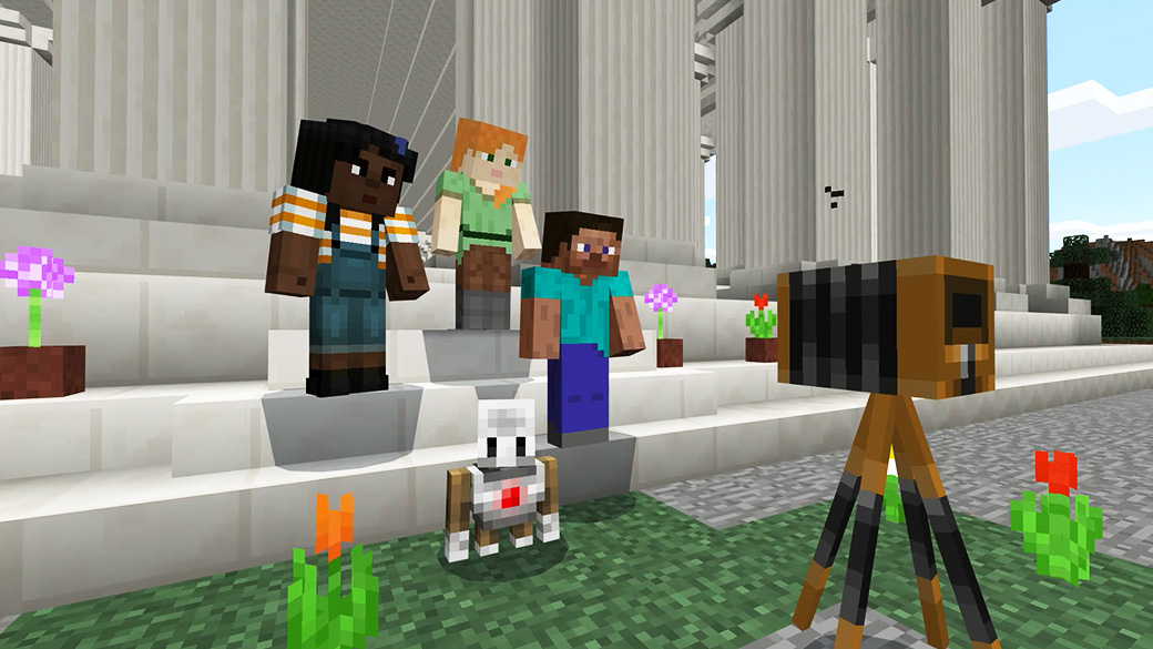 Screenshot showing Minecraft: Education Edition