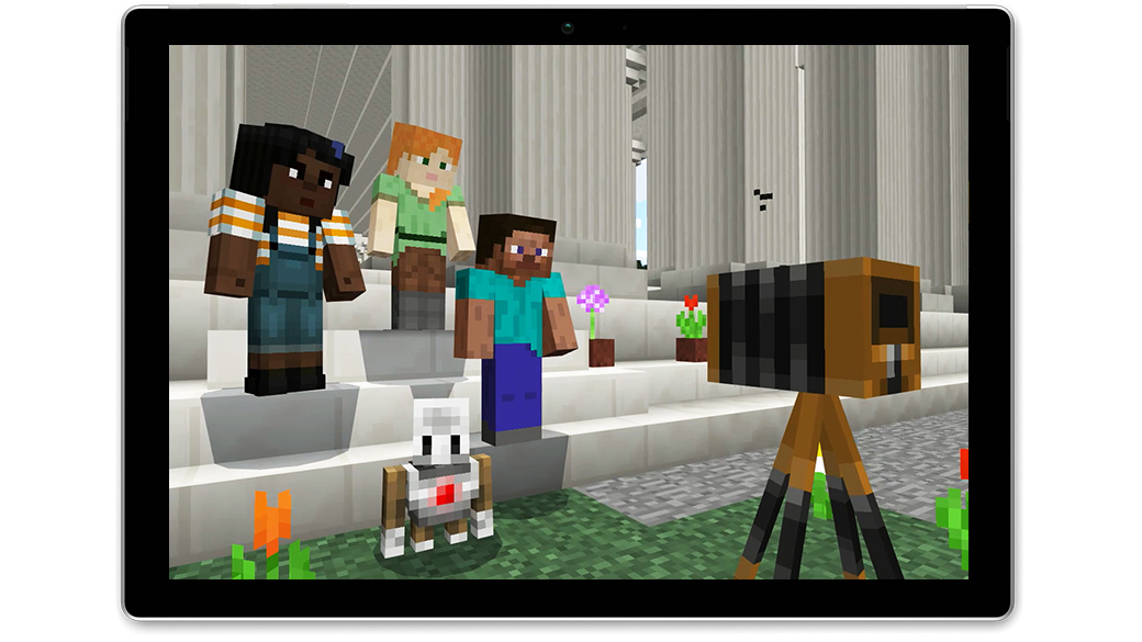 Image of Minecraft: Education Edition running on a Windows device.