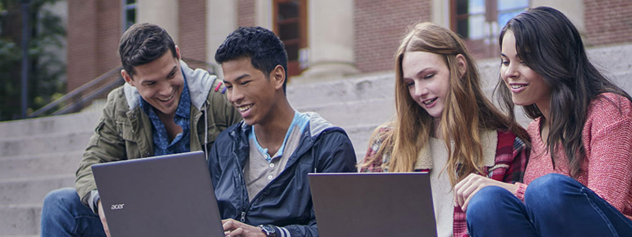 Students at school using Windows devices
