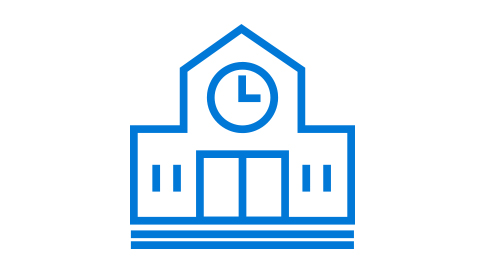 School building icon.