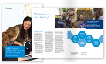 Thumbnail of the Whitepaper Transforming learning environments for anytime, anywhere learning booklet lying open at a page. Click to download this PDF file.